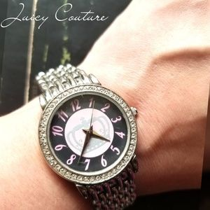 Juicy Couture Silver Stainless/Pink Working Watch